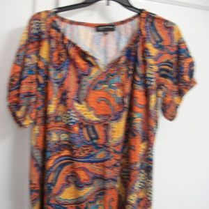 JONES NEW YORK PLUS SIZE TIE FRONT TOP